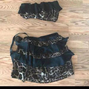Matching top and skirt set